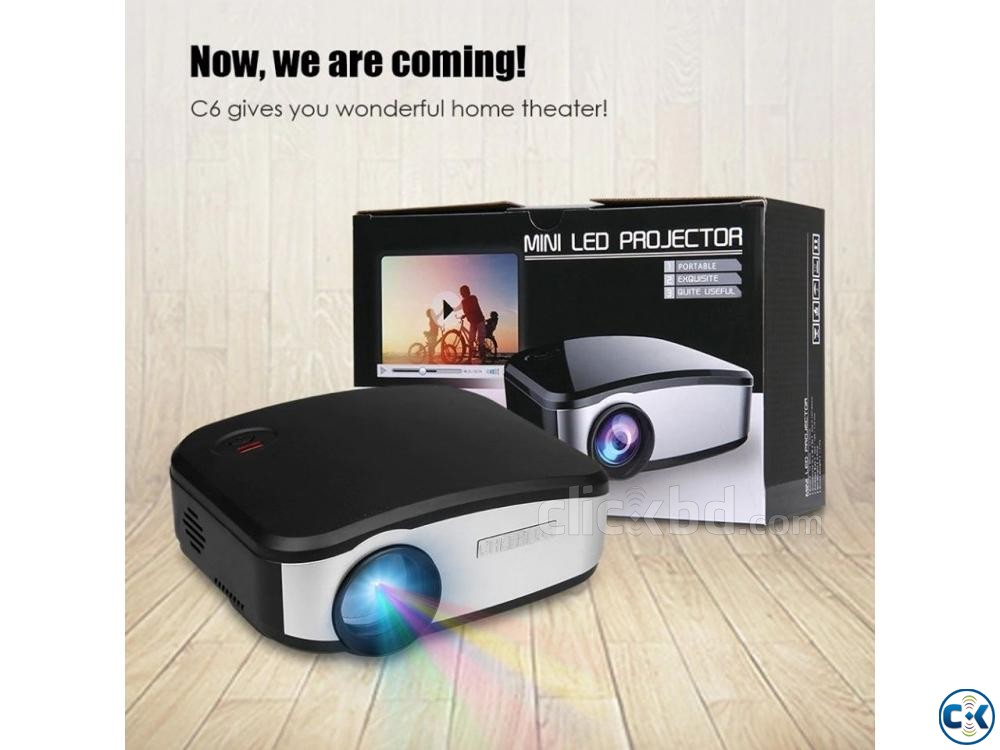 Mini LED Projector C6 | ClickBD large image 0