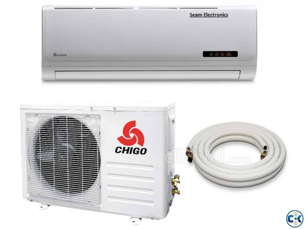 100 Copper Chigo 24000 BTU 2.0 Ton AC AIR-CONDITIONER | ClickBD large image 1