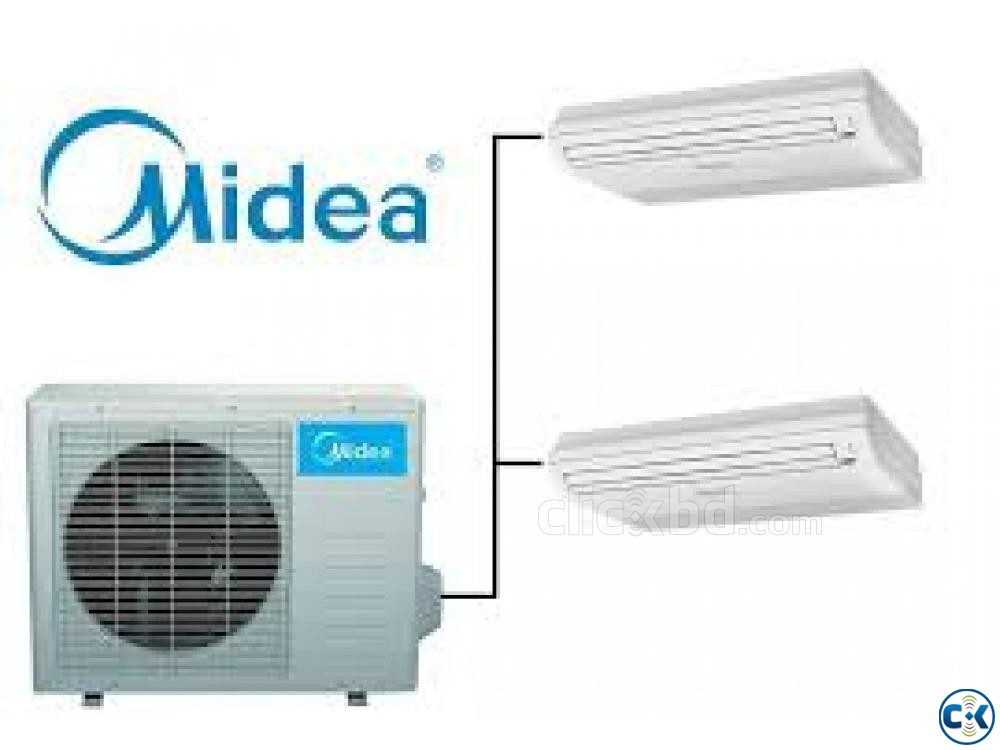 4.0 Ton MIDEA Air Conditioner Celling Cassette Type AC | ClickBD large image 1