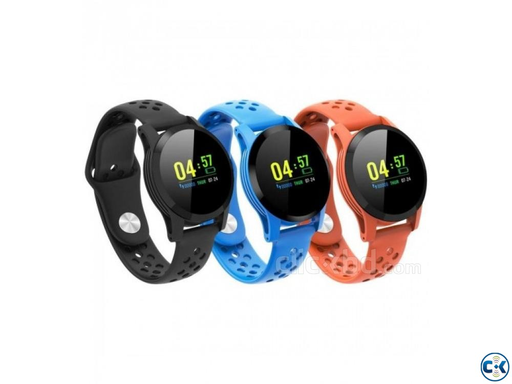117 Plus Smart Band Colorful Screen Blood Pressure Heart Rat | ClickBD large image 1
