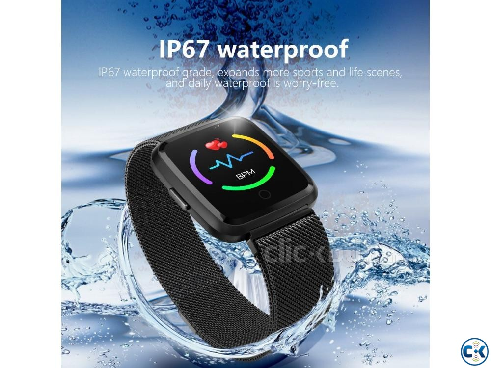 Y7 Smartwatch Waterproof Blood Pressure | ClickBD large image 0