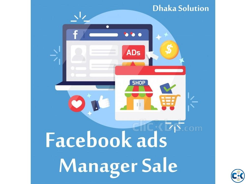 Facebook ads Manager account for Sale | ClickBD large image 0