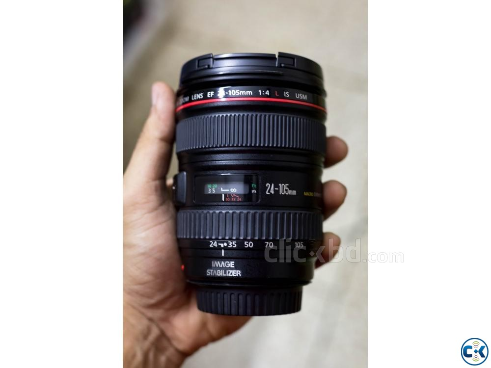 Canon EF 24-105mm f 4 L IS USM Lens with Pouch | ClickBD large image 1