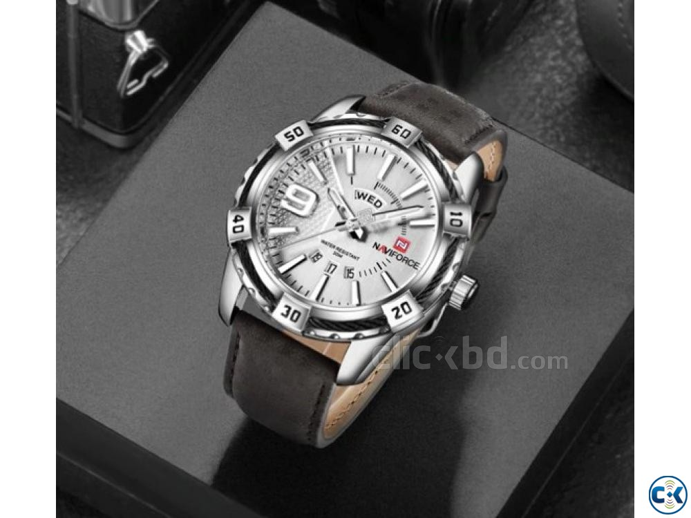 NAVIFORCE Military Waterproof Sports Men Watches | ClickBD large image 0