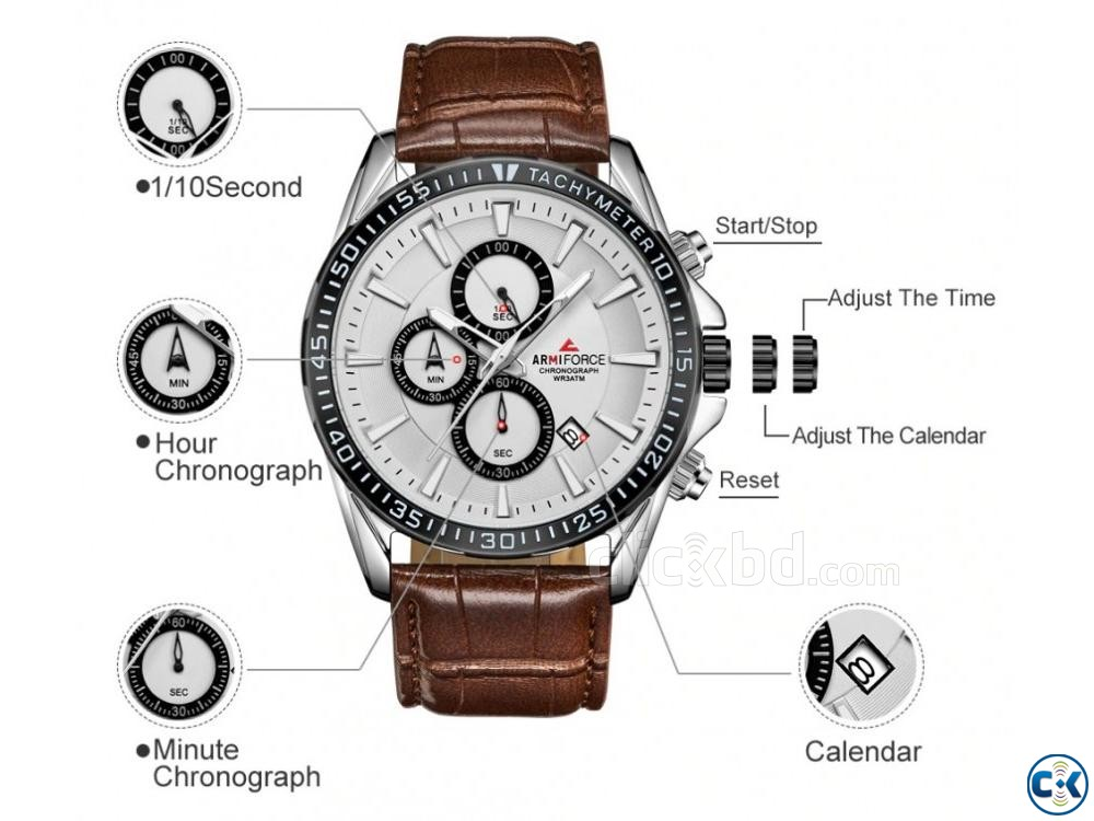 ARMIFORCE Leather Sports Men Chronograph Watches | ClickBD large image 1