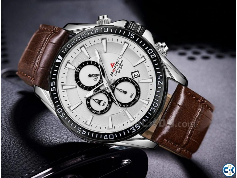 ARMIFORCE Leather Sports Men Chronograph Watches | ClickBD large image 2