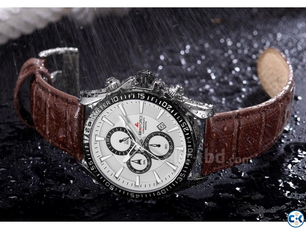 ARMIFORCE Leather Sports Men Chronograph Watches | ClickBD large image 3