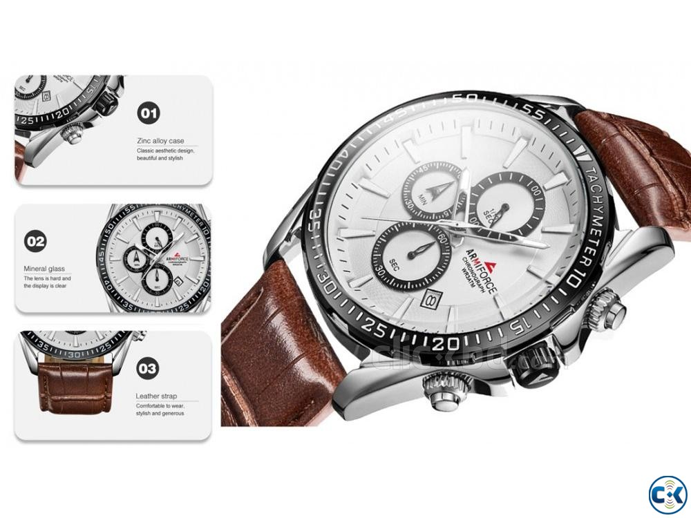 ARMIFORCE Leather Sports Men Chronograph Watches | ClickBD large image 4