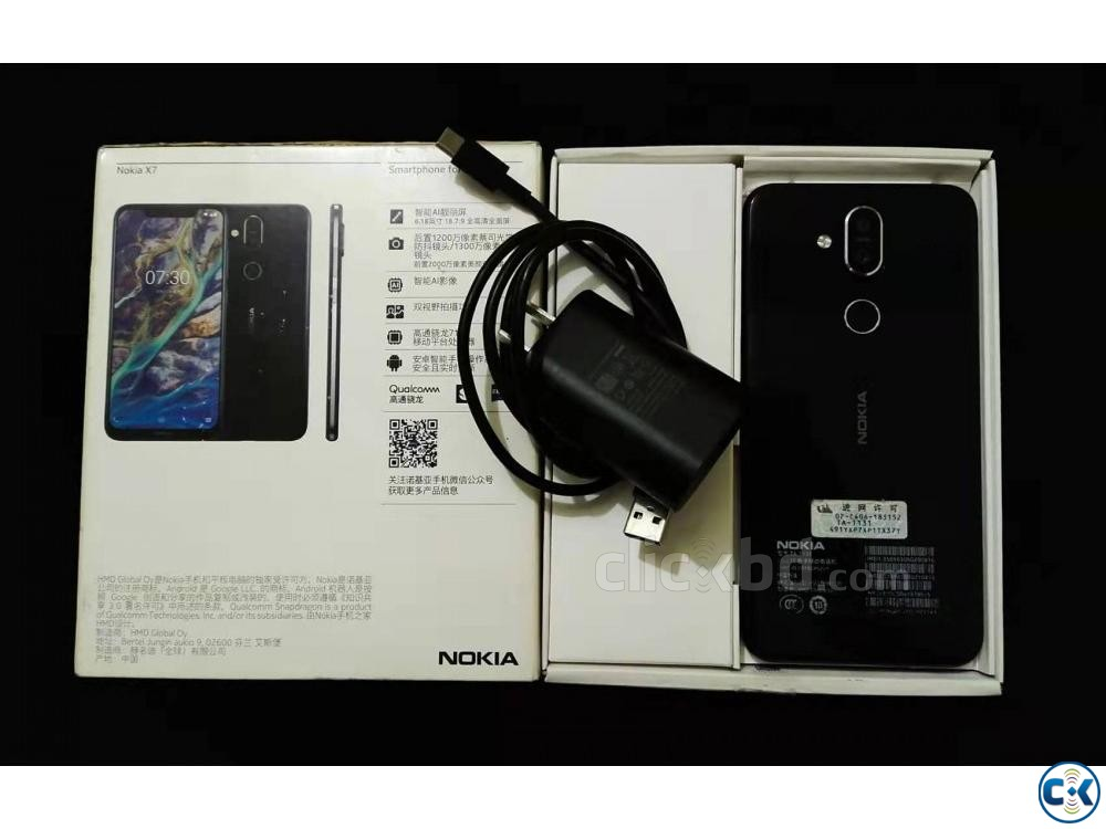 Nokia X7 2019 4 64 With Full Box | ClickBD large image 0