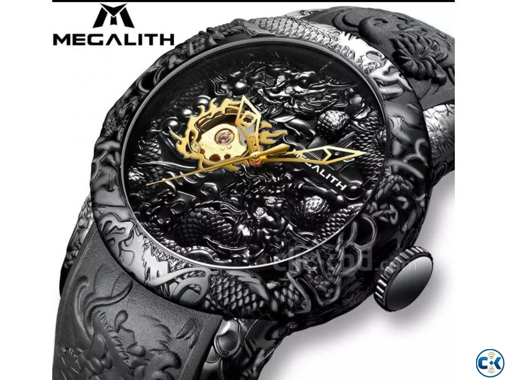 MEGALITH Dragon Sculpture Watch For Men | ClickBD large image 1