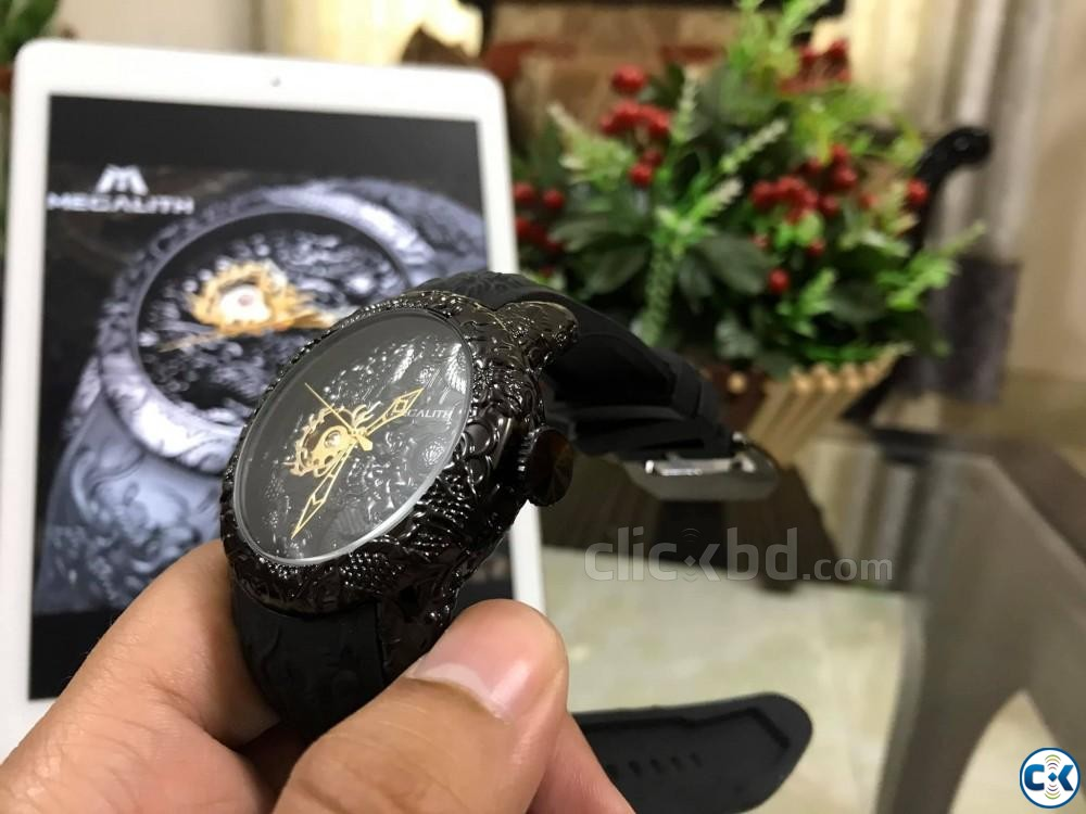 MEGALITH Dragon Sculpture Watch For Men | ClickBD large image 4