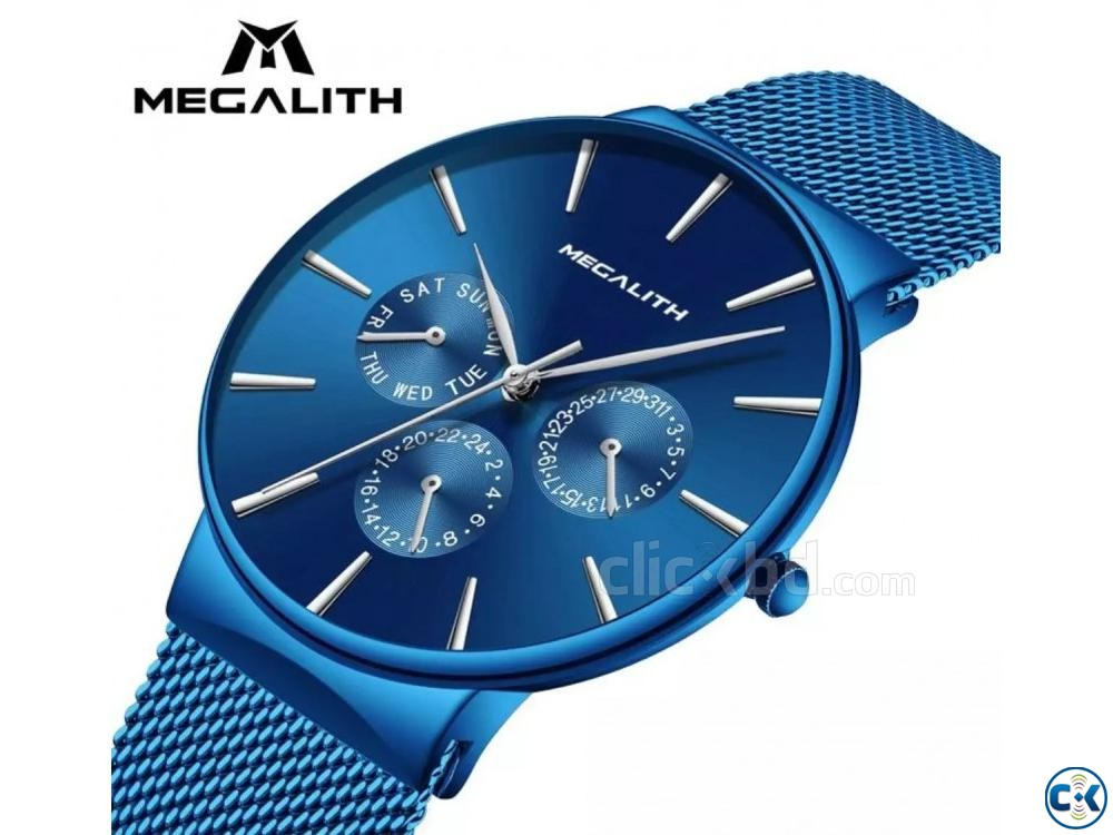 Megalith Blue goddess Slim watch | ClickBD large image 0
