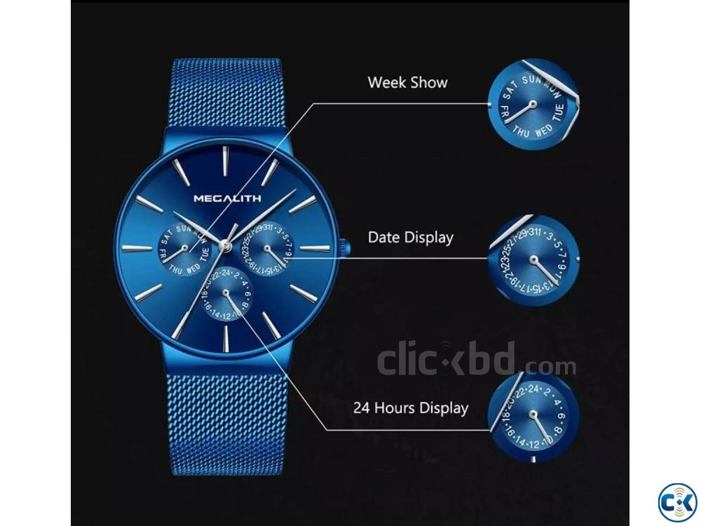 Megalith Blue goddess Slim watch | ClickBD large image 1