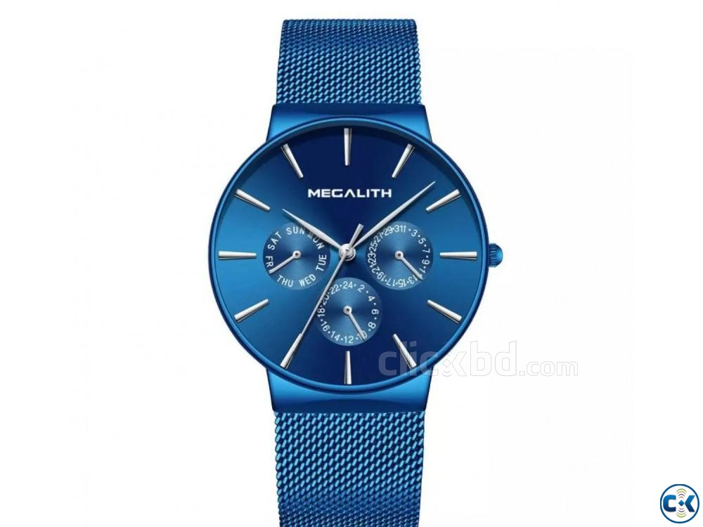 Megalith Blue goddess Slim watch | ClickBD large image 3