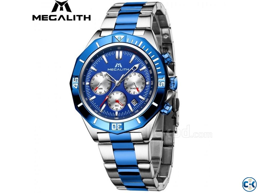 Megalith Blue Dial Luxury Watch | ClickBD large image 0