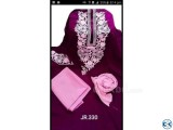 Violet Embroidery Single Unstiched Kameez for Women 3 piece