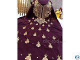 Maroon Embroidery Single Unstiched Kameez for Women 1 piece