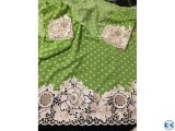 Light green Full sequence work Unstiched Single Kameez for W