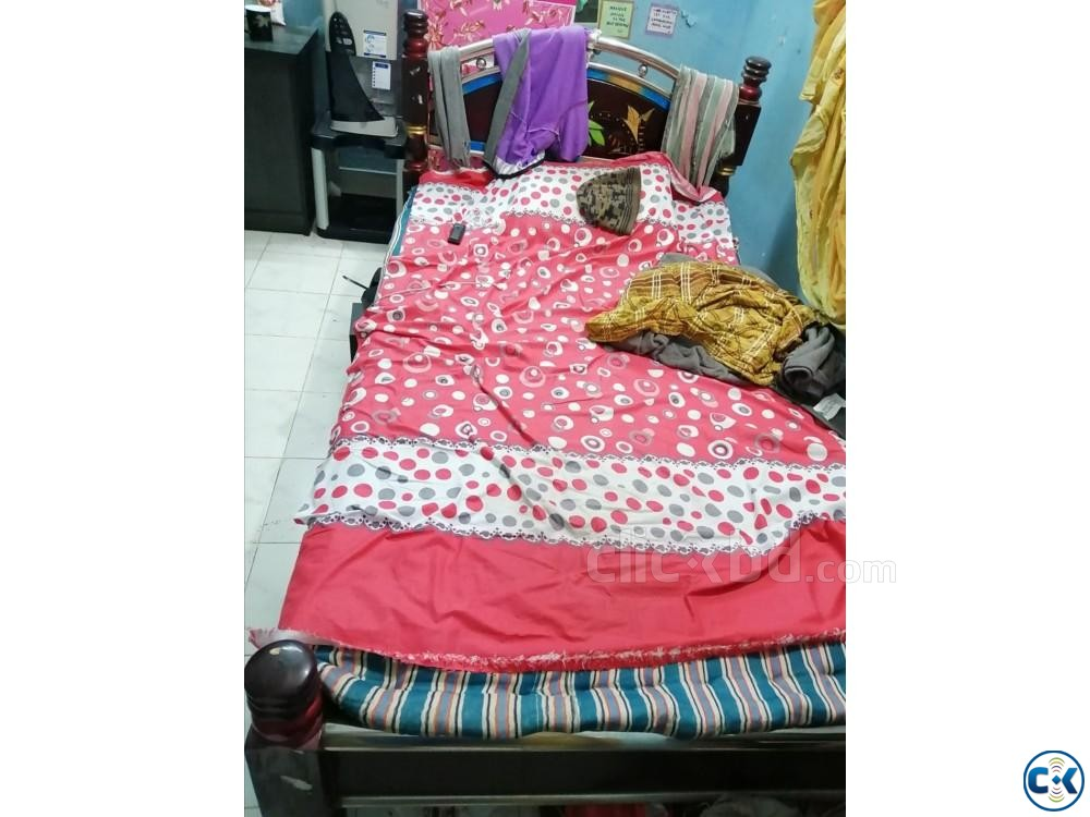Single Big Size Bed For Sell | ClickBD large image 0