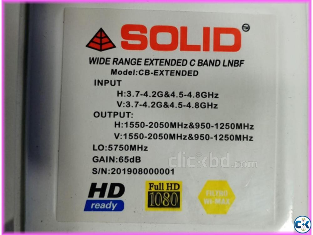 Solid C Band Lnb 4.5-4.8Ghz | ClickBD large image 1