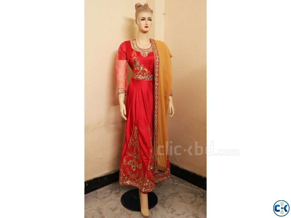 Exclusive Embroidery Party Gown Dress For women | ClickBD large image 0