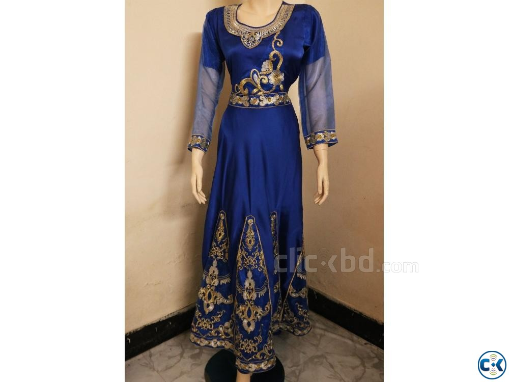 Exclusive Embroidery Party Gown Dress For women | ClickBD large image 2