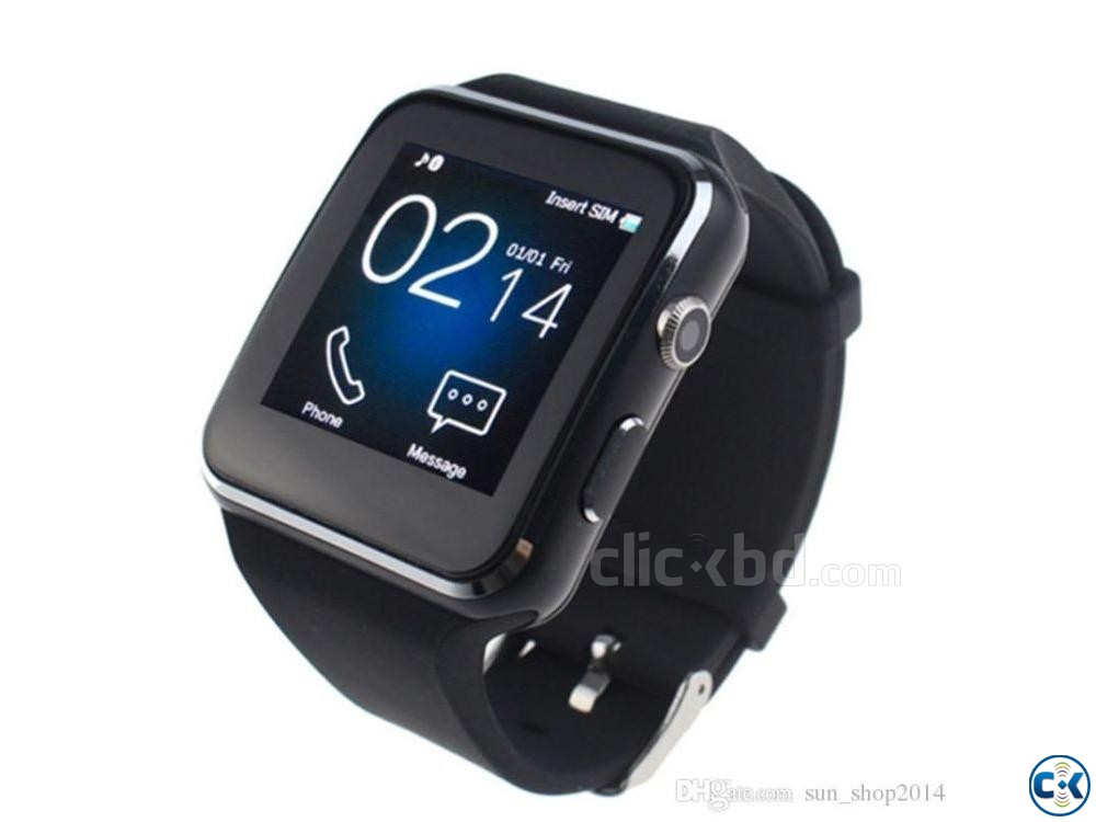 Curved Screen X6 Smartwatch Smart Watch Bracelet Phone WLB | ClickBD large image 0