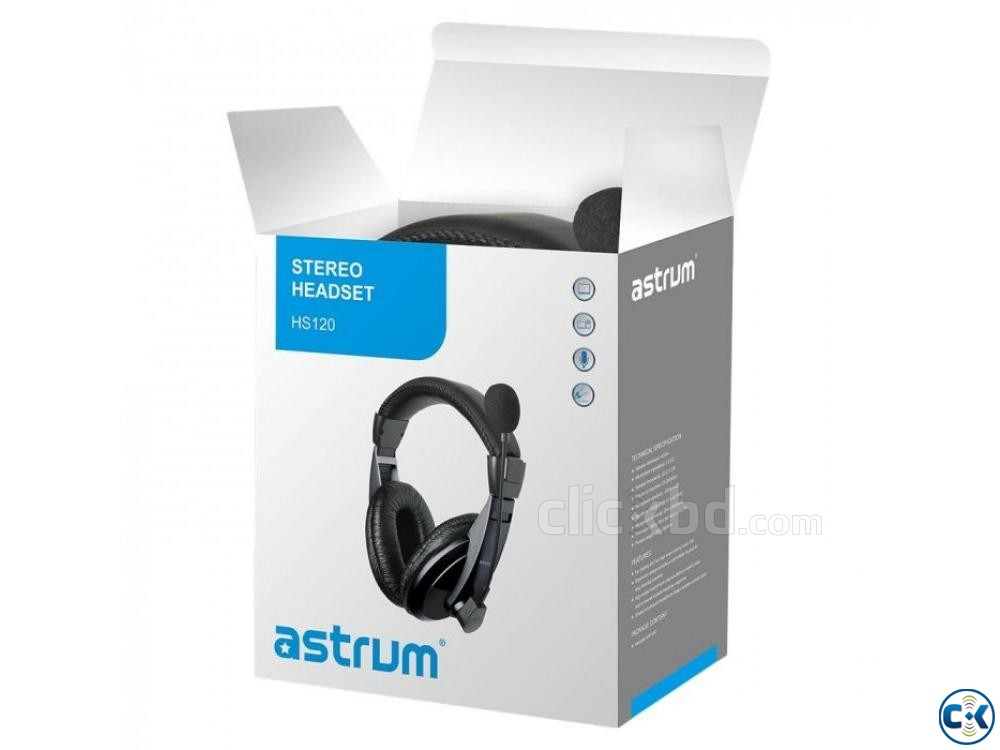 Astrum HS120- 3.5mm Gaming Headphone | ClickBD large image 2