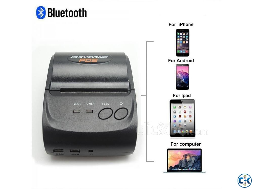 Portable mobile wireless Bluetooth Thermal printer | ClickBD large image 0