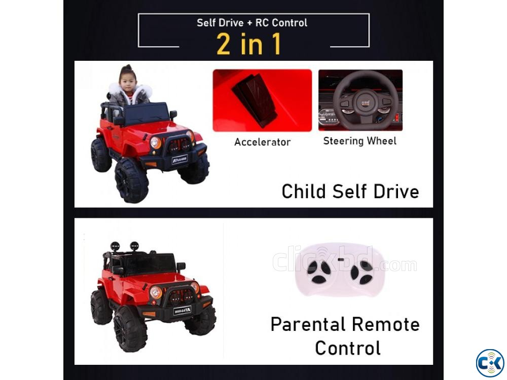 Baby Jeep Car Large Baby Car Heavy Baby Car CX8562 | ClickBD large image 3