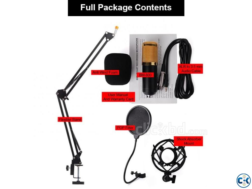 Studio Package Condenser Microphone In Bangladesh | ClickBD large image 1