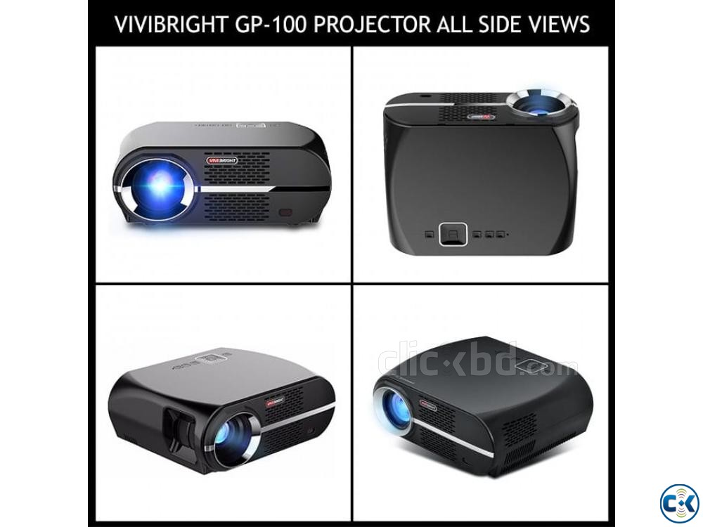 Vivibright GP100 Multimedia Projector 3D HD Projector | ClickBD large image 2