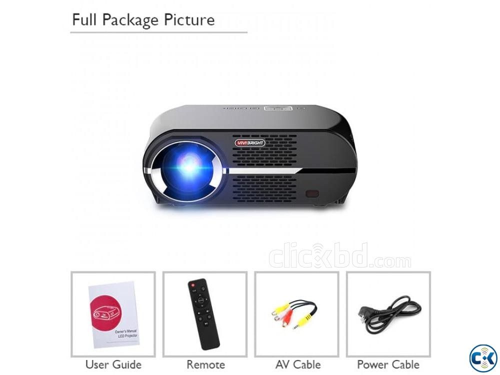 Vivibright GP100 Multimedia Projector 3D HD Projector | ClickBD large image 3