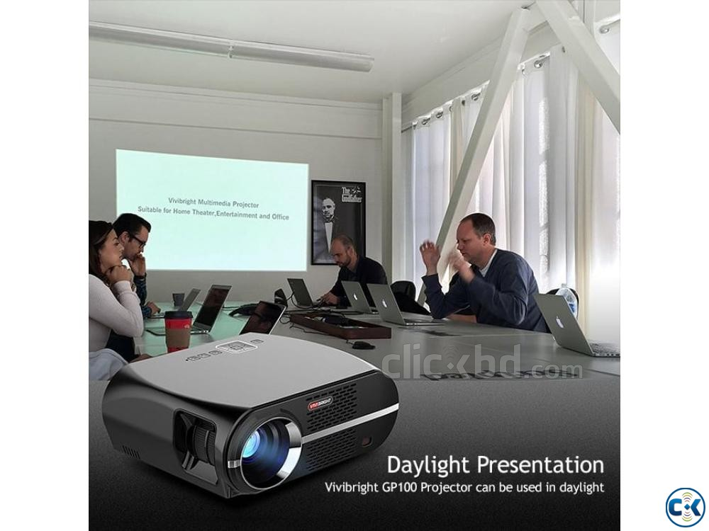 Vivibright GP100 Multimedia Projector 3D HD Projector | ClickBD large image 4