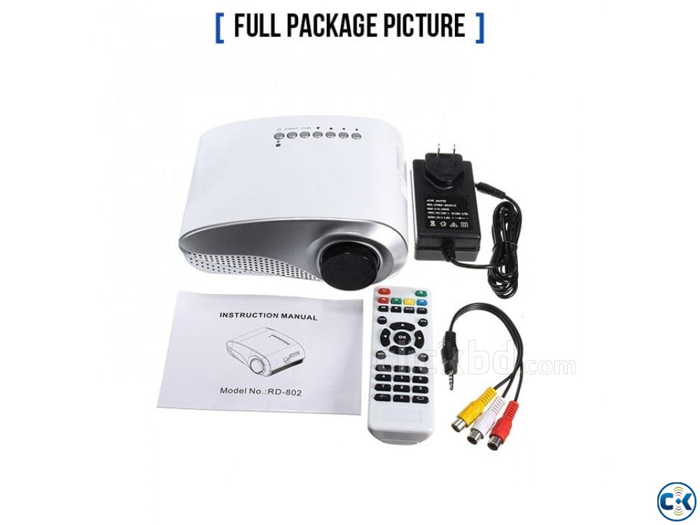 Philips Projector RD802 3D HD Projector Mini LED Projector | ClickBD large image 1