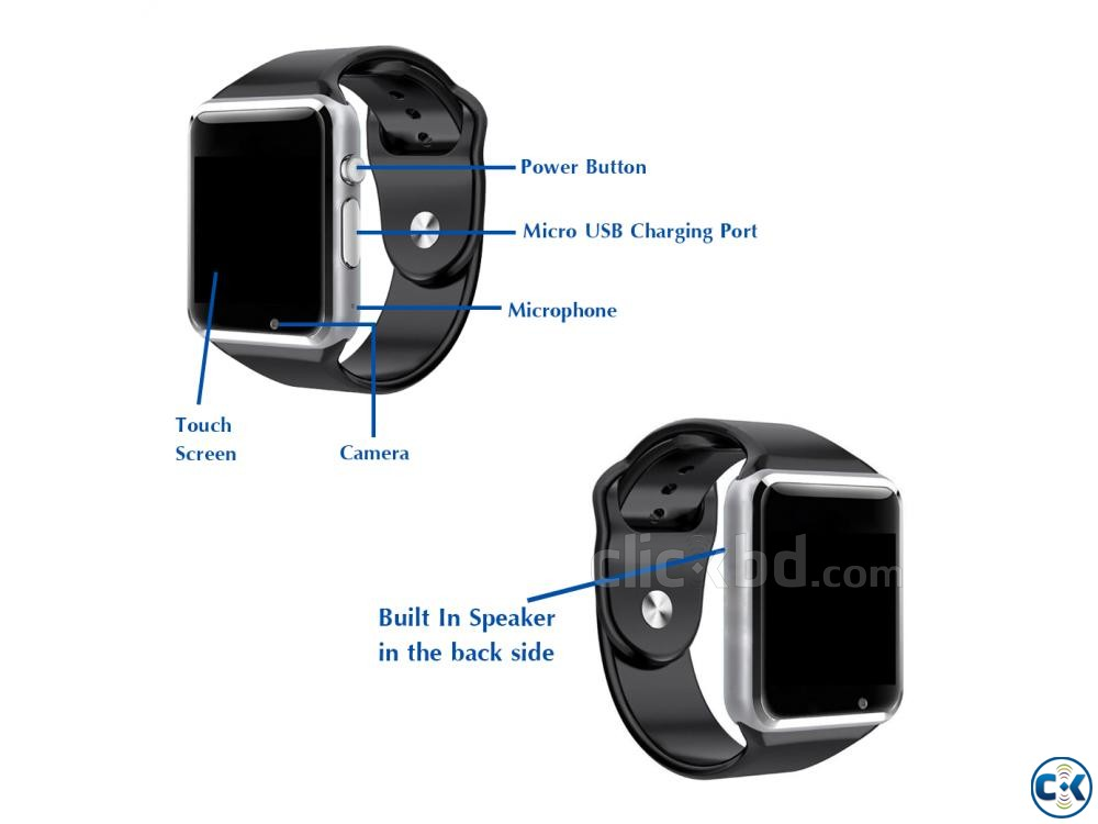 Smart Watch Mobile Watch SIM Supported Watch | ClickBD large image 2