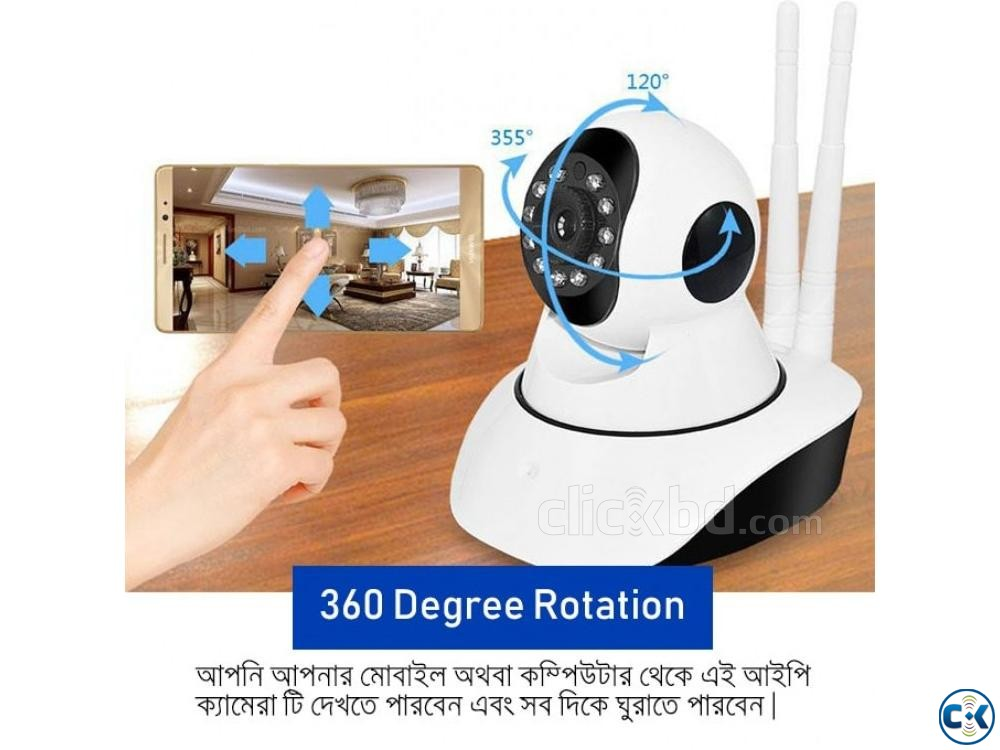 WiFi IP Camera 360 Degree IP Camera Wireless CCTV ZC-720 Cam | ClickBD large image 2