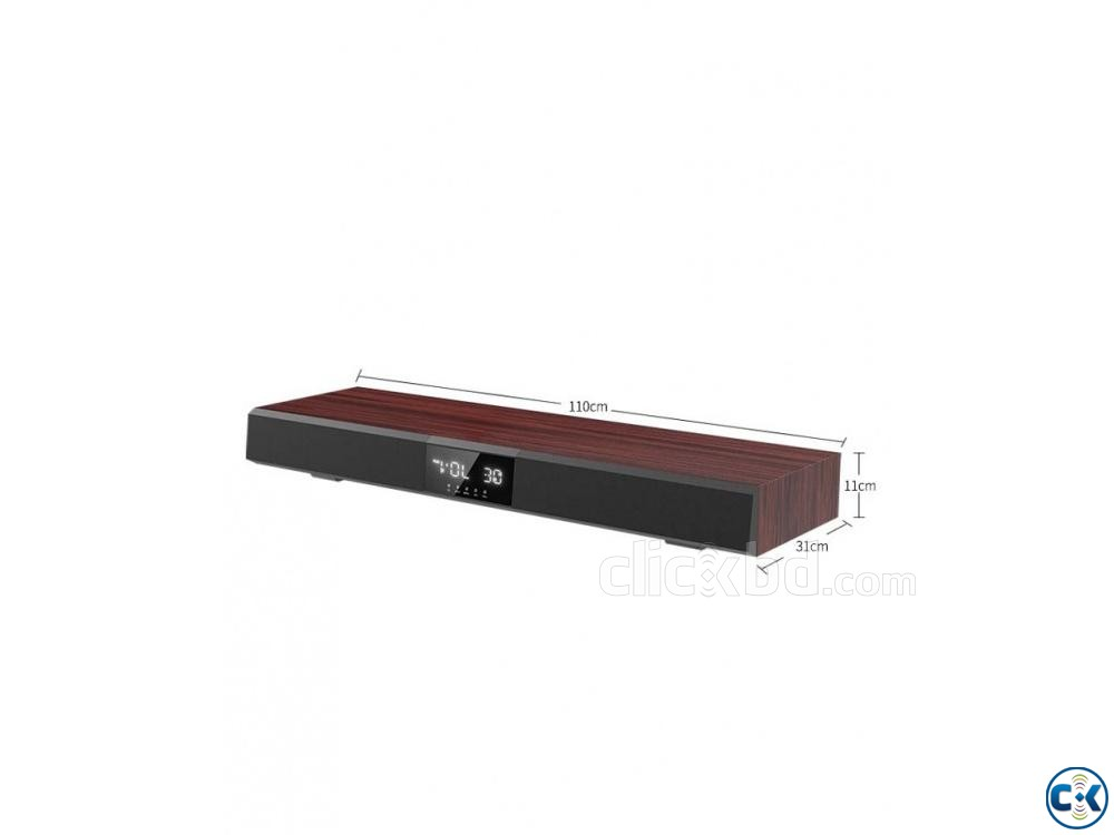 500W Qsonic-M160 Sound Bar With Built in Subwoofer | ClickBD large image 0