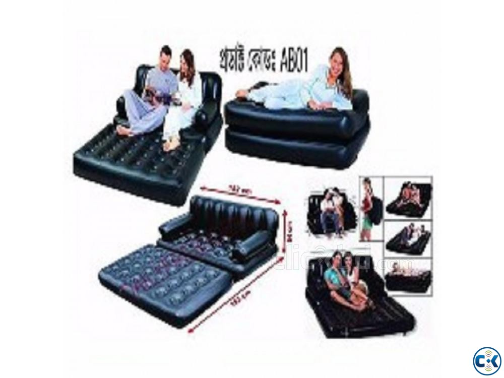 5 in 1 Air Bed Sofa Cum Bed New Version 01611288488 | ClickBD large image 1