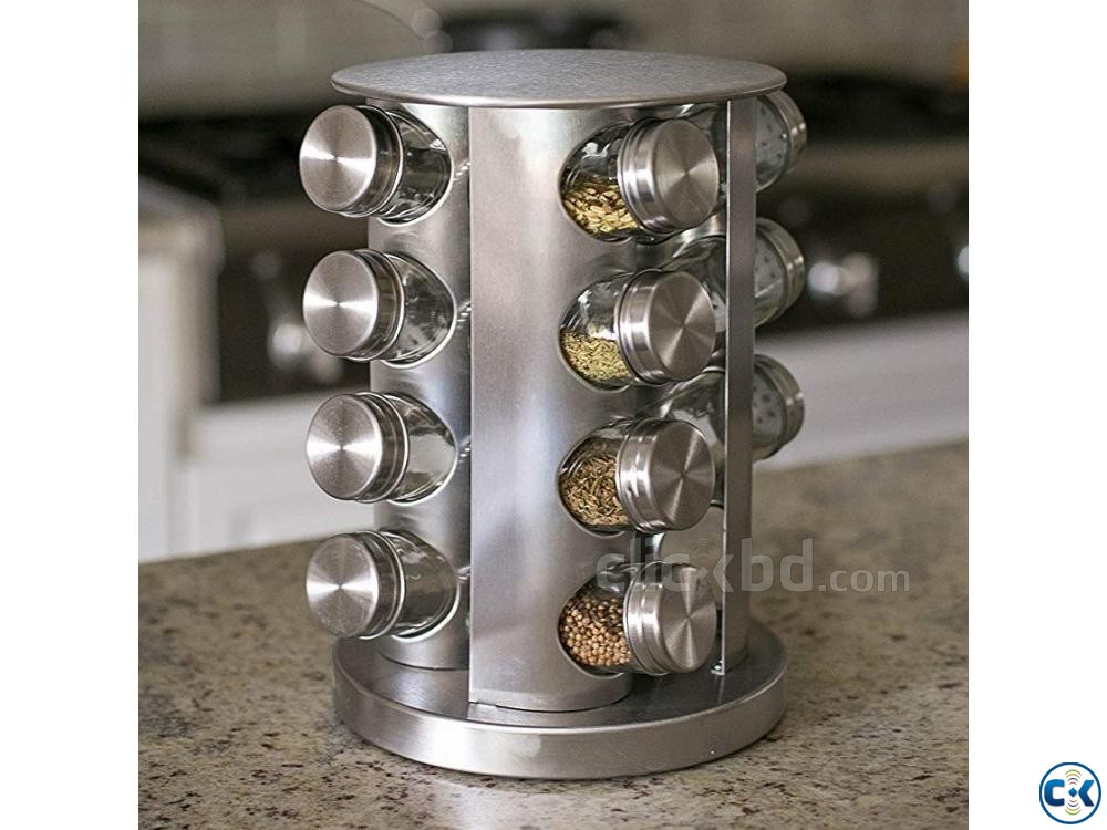 Rotating Spice Rack Organizer Moving Spice Jar Organizer | ClickBD large image 0