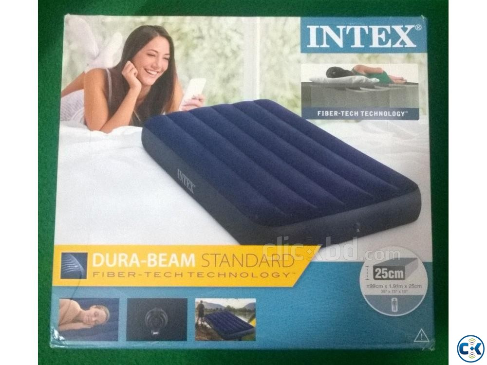 Intex Inflatable Air Bed Single Airbed with Electric Pump | ClickBD large image 0