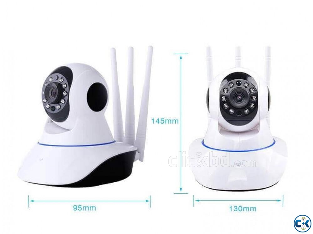 WiFi IP Home Security Camera Night Vision 3 Antennas | ClickBD large image 0