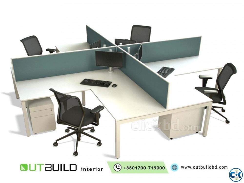 Office Workstation Desk And Furniture | ClickBD large image 0