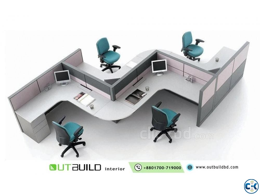 Office Workstation Desk And Furniture | ClickBD large image 1