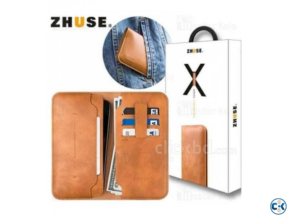 Zhuse Wallet Flip Cover For Smart Phone | ClickBD large image 0