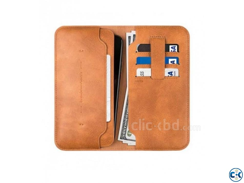 Zhuse Wallet Flip Cover For Smart Phone | ClickBD large image 1