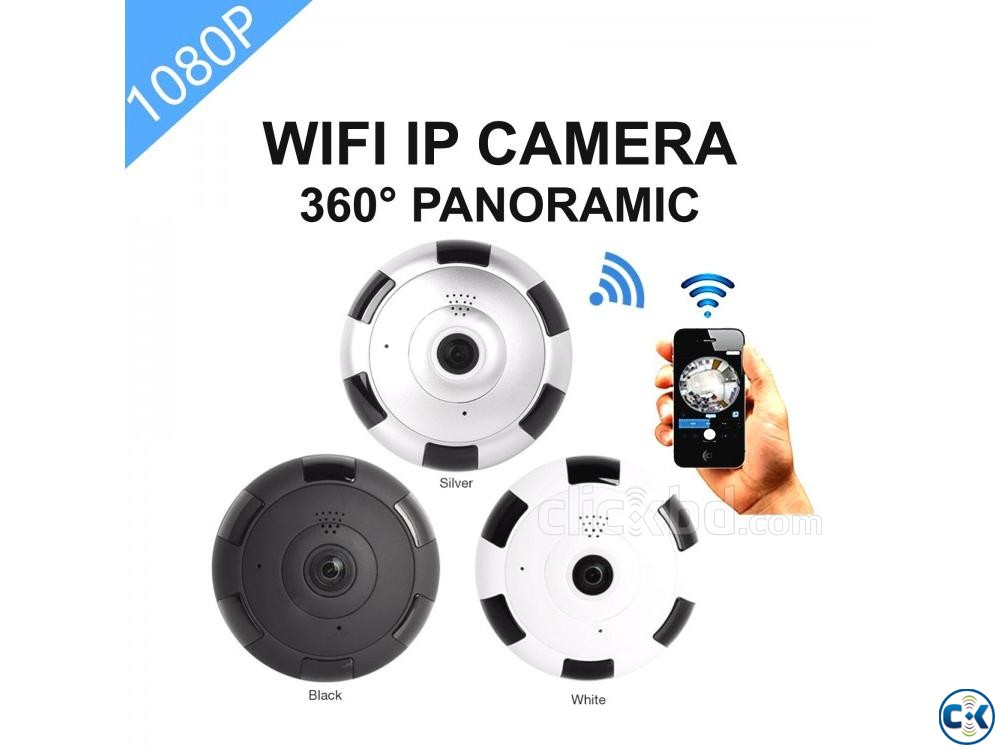 Wifi IP Camera 360 Night Vision Panoramic Camera 5in1 View | ClickBD large image 0