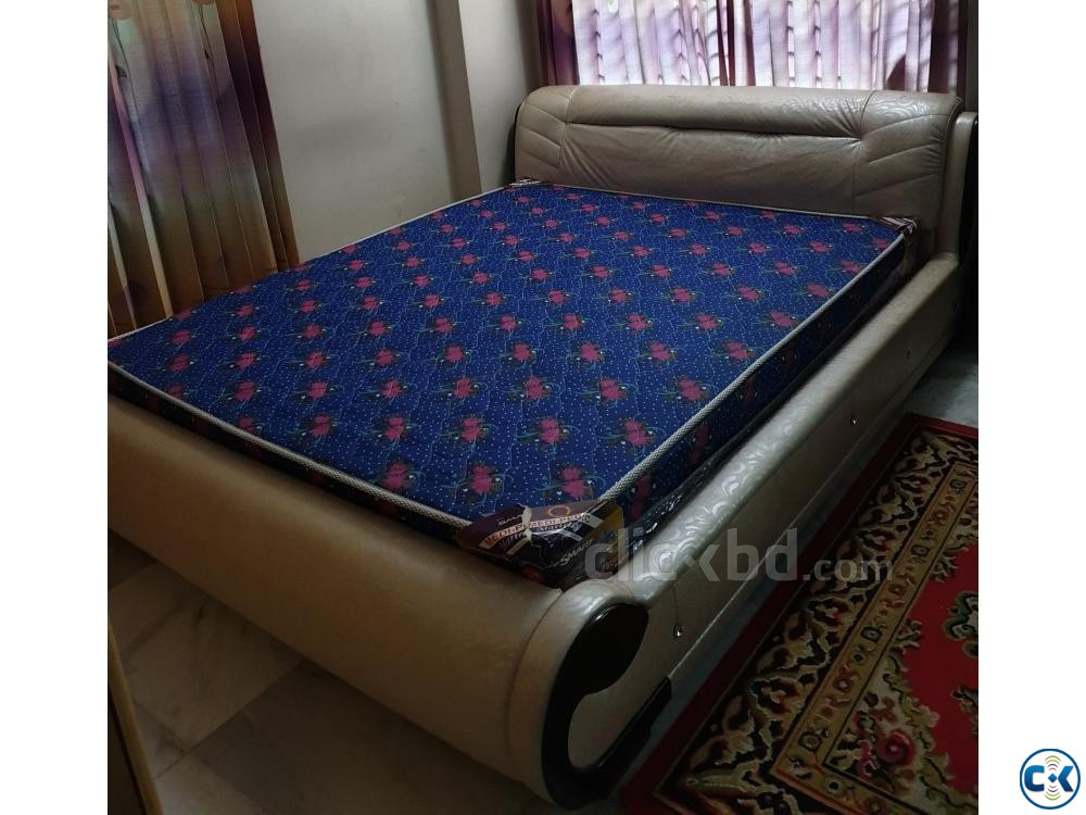 6 feet by 7 feet bed with mattress | ClickBD large image 0