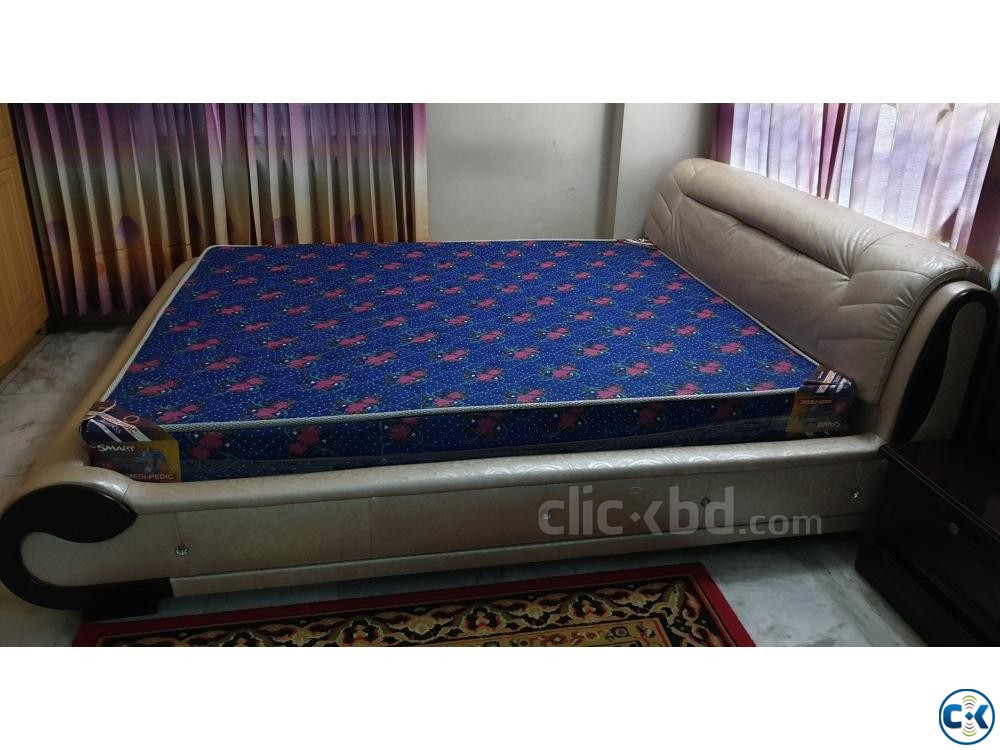 6 feet by 7 feet bed with mattress | ClickBD large image 1