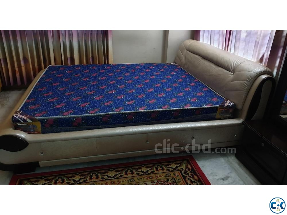 6 feet by 7 feet bed with mattress | ClickBD large image 2